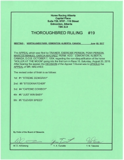 Ruling T019-2017