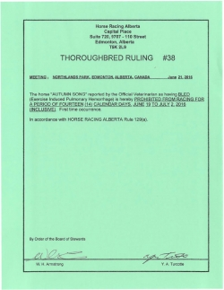 Ruling T038-2016