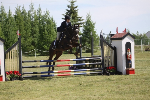 Charlene and West Point at the Beaumont Horse Trials