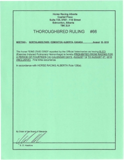 Ruling T066-2016