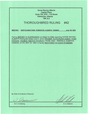 Ruling T042-2016