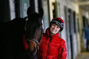Sheena Ryan and Espirituganador at Woodbine