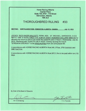 Ruling T033-2015