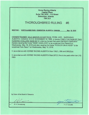 Ruling T006-2016