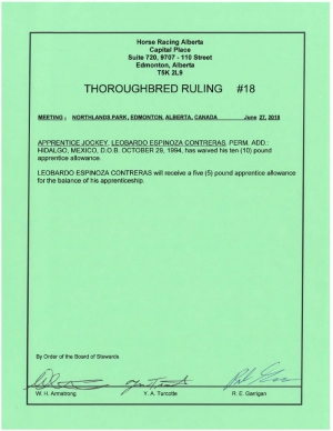 Ruling T018-2018