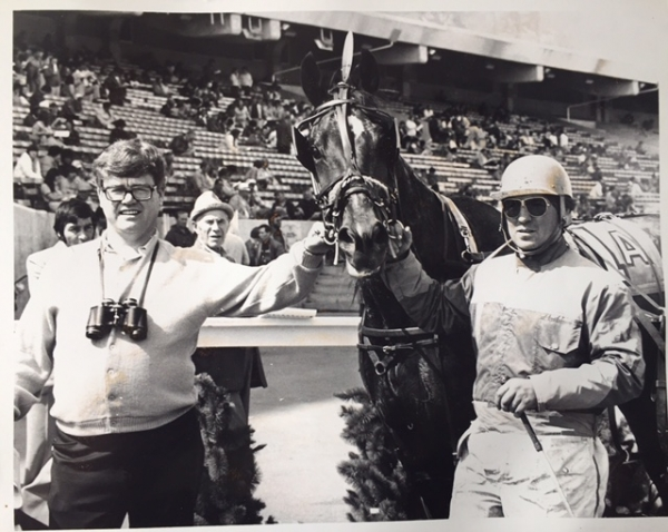 Rod Hennessy in the winner's circle in 1985 at Stampede Park