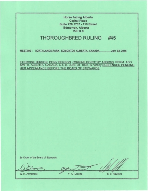 Ruling T045-2016