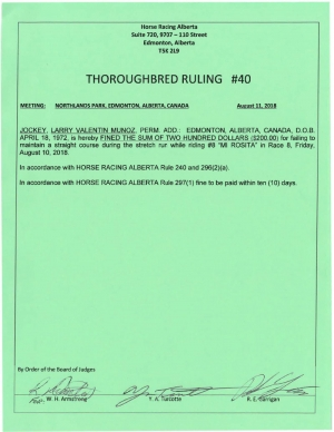 Ruling T040-2018