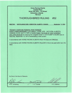 Ruling T052-2015