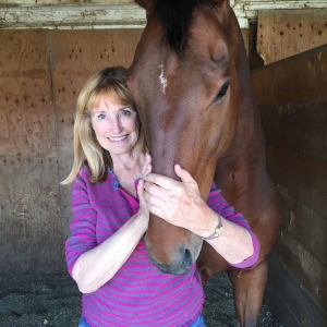 Jacqueline Smith with her favourite horse - Sportive