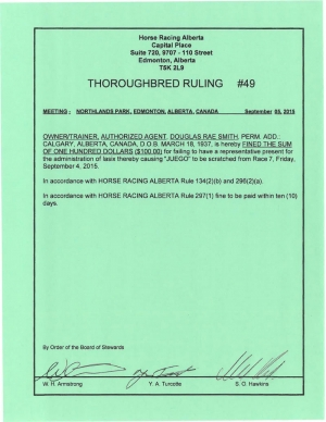 Ruling T049-2015