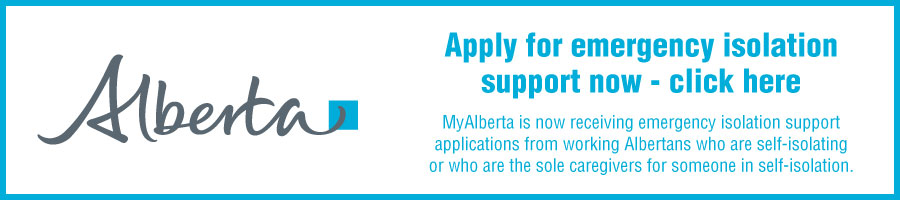 Apply for emergency isolation support now with MyAlberta