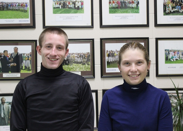 Brandon Duchaine and Aimee Auger at Woodbine