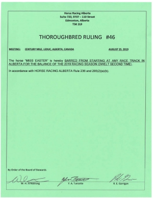 Ruling T046-2019