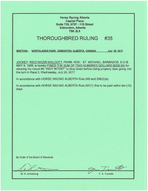 Ruling T035-2017