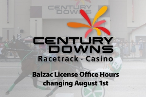 Notice: Century Downs HRA Licensing Office Hours Change