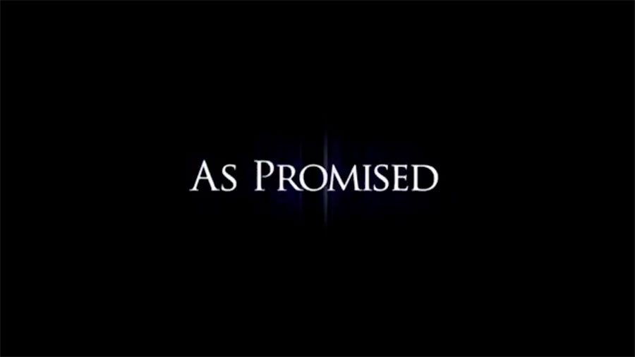 As promised