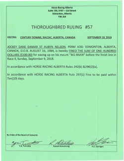 Ruling T057-2018