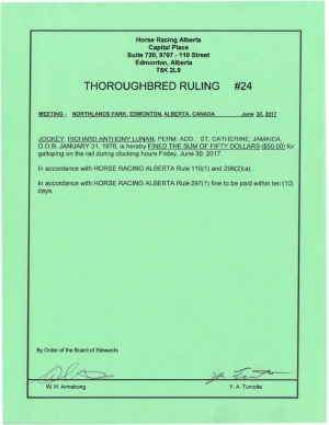 Ruling T024-2017