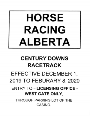 Century Downs Licensing Office Entry Change