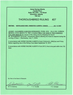 Ruling T027-2018