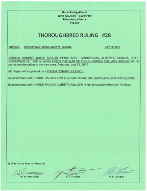 Ruling T028-2019