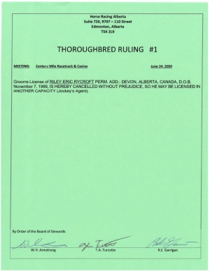 Ruling T001-2020