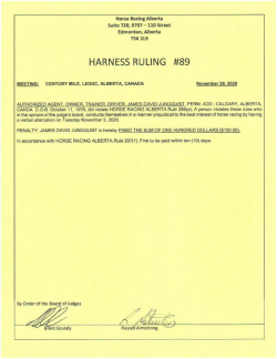 Ruling H089-2020