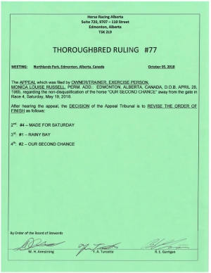 Ruling T077-2018