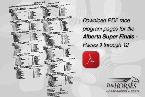 Download an Alberta Super Finals race program (races 9-12)