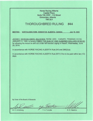 Ruling T044-2016