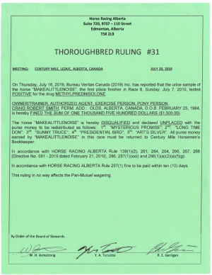 Ruling T031-2019