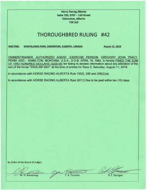 Ruling T042-2018