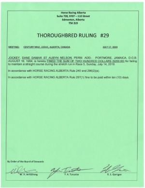Ruling T029-2019