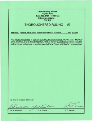 Ruling T003-2018