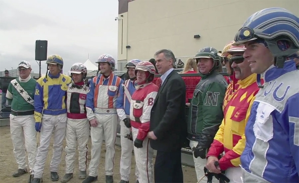 As a supporter of horse racing in Alberta, Mr. Prentice was part of the grand opening ceremonies at Century Downs racetrack.