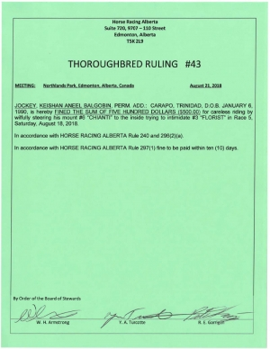 Ruling T043-2018